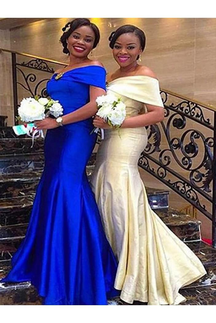 Mermaid Off-the-Shoulder Plus Size Floor Length Bridesmaid Dresses 3010431