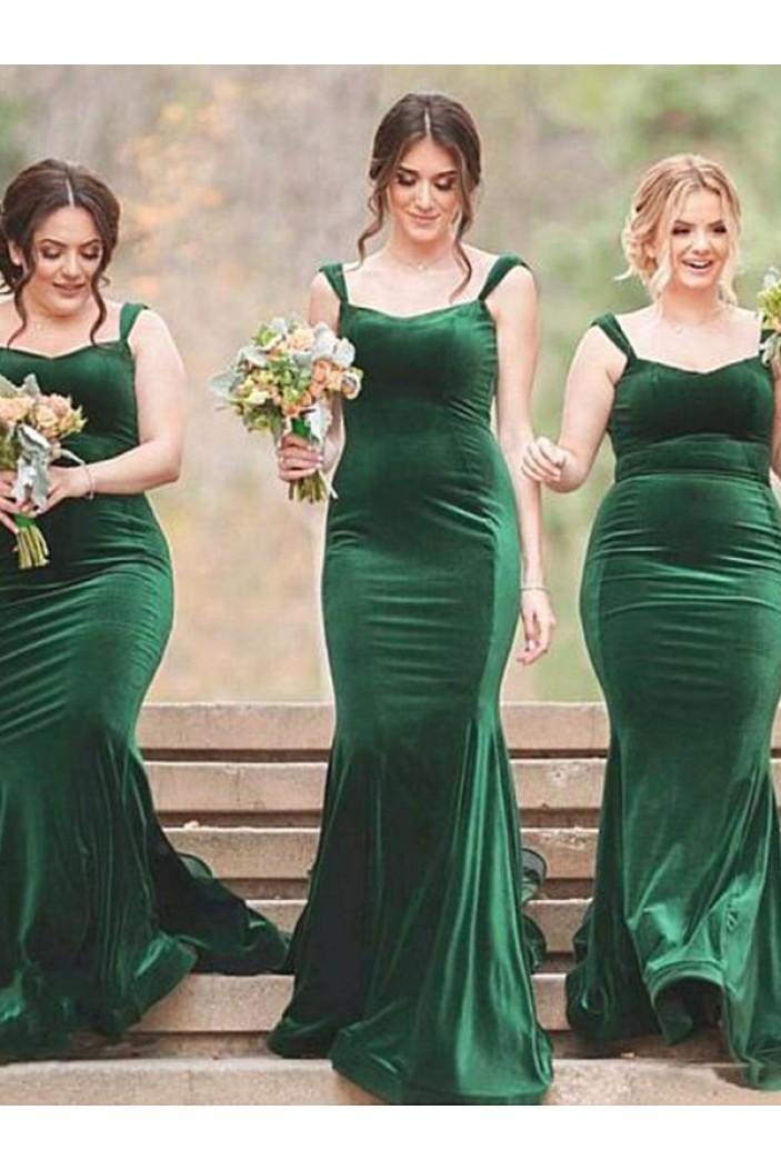Mermaid Long Plus Size Floor Length Bridesmaid Dresses 3010432