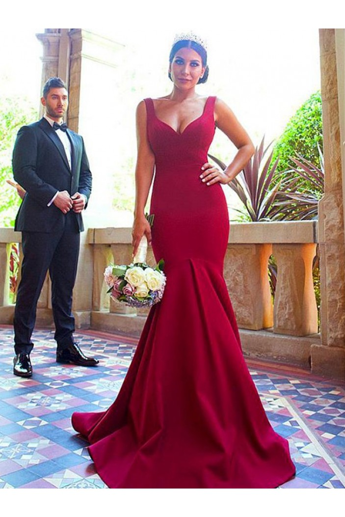 Mermaid Long Floor Length Bridesmaid Dresses 3010434