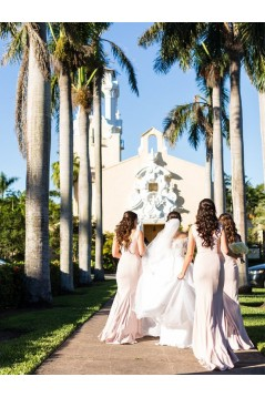 Mermaid Long Floor Length Bridesmaid Dresses 3010438
