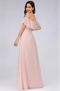 A-Line Off-the-Shoulder Floor Length Bridesmaid Dresses 3010444