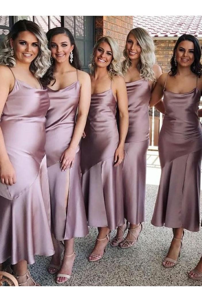 Sheath Spaghetti Straps Bridesmaid Dresses 3010445