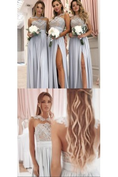 A-Line Lace and Chiffon Floor Length Bridesmaid Dresses 3010450