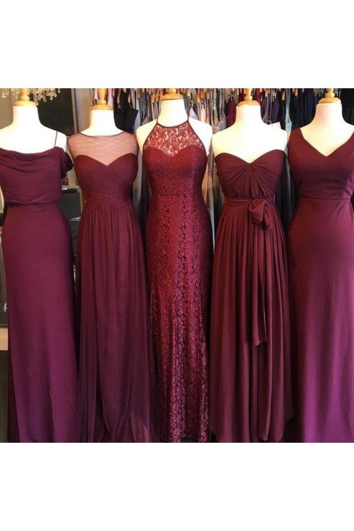 Affordable Long Floor Length Bridesmaid Dresses 3010454