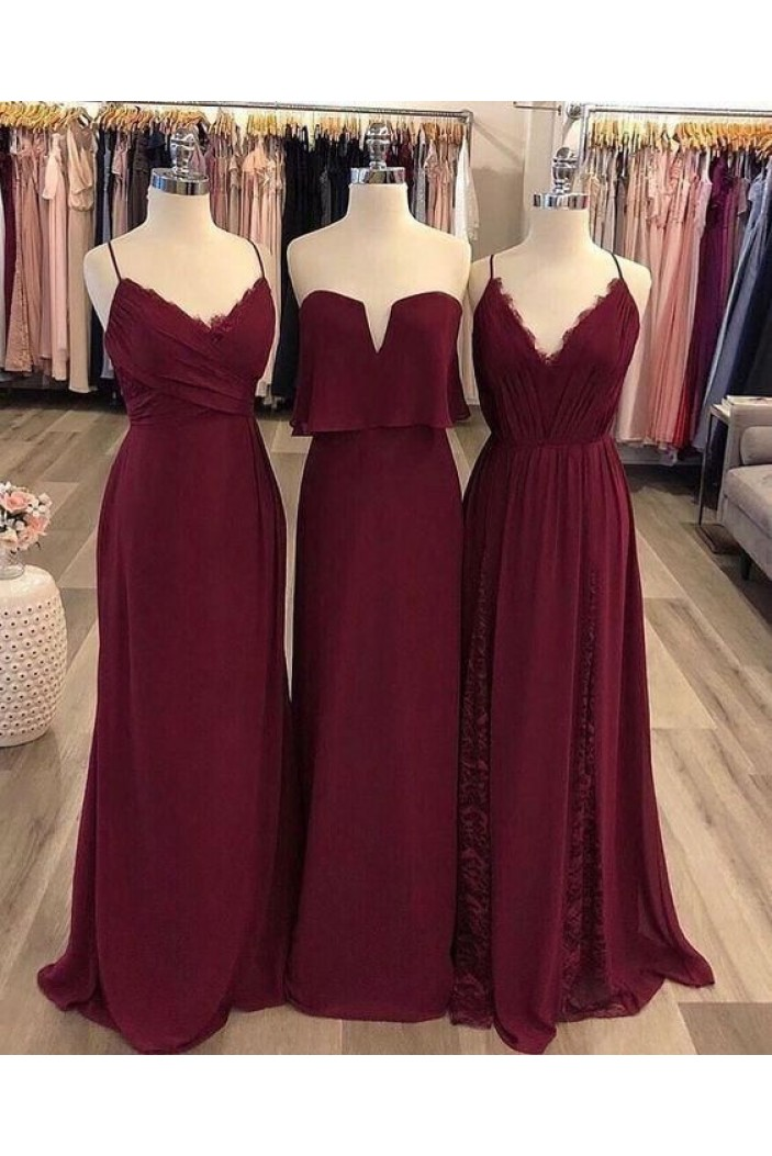 Affordable Long Floor Length Bridesmaid Dresses 3010456