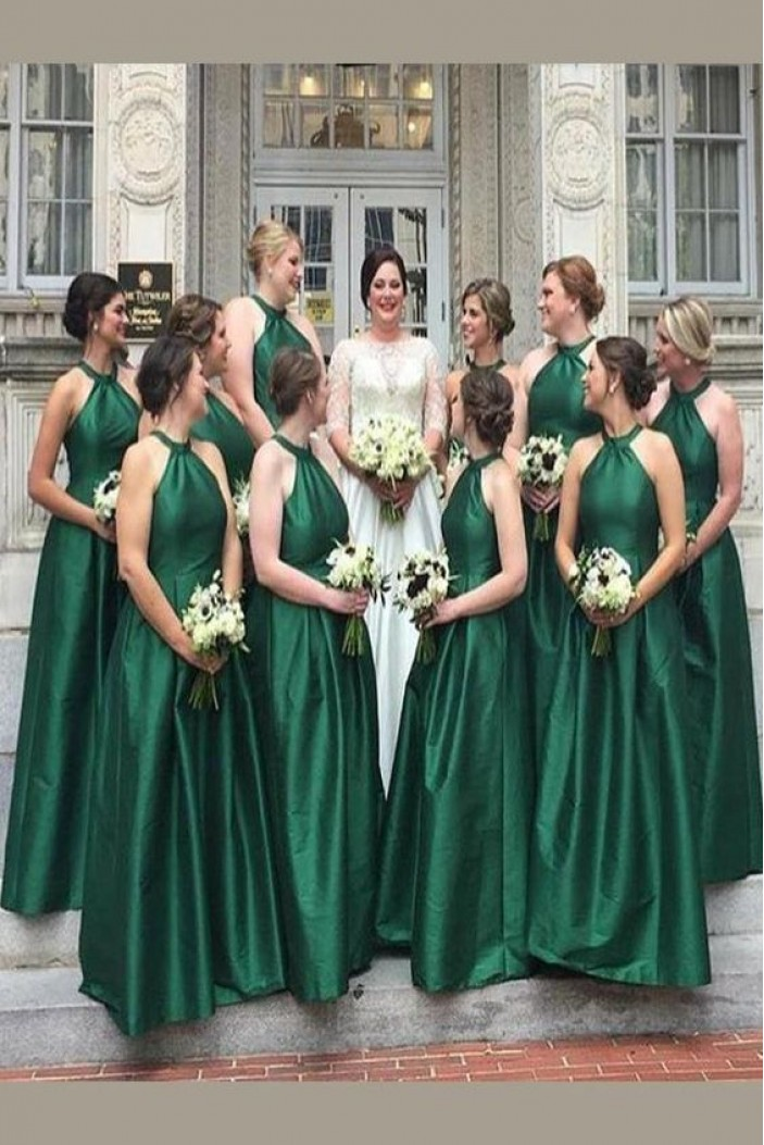 A-Line Floor Length Bridesmaid Dresses 3010458