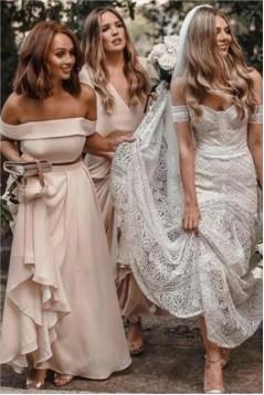 Affordable Long Floor Length Bridesmaid Dresses 3010493