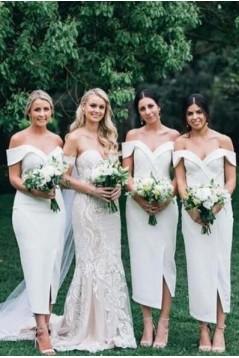 Sheath Off-the-Shoulder Bridesmaid Dresses 3010496