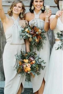Sheath Halter Bridesmaid Dresses 3010497