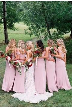 Sheath Spaghetti Straps Floor Length Bridesmaid Dresses 3010498