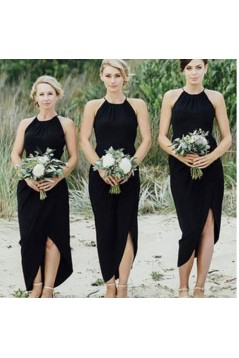 Sheath Black Bridesmaid Dresses 3010507