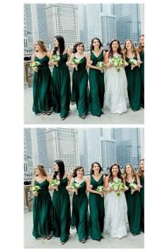A-Line Long Chiffon Floor Length Bridesmaid Dresses 3010509
