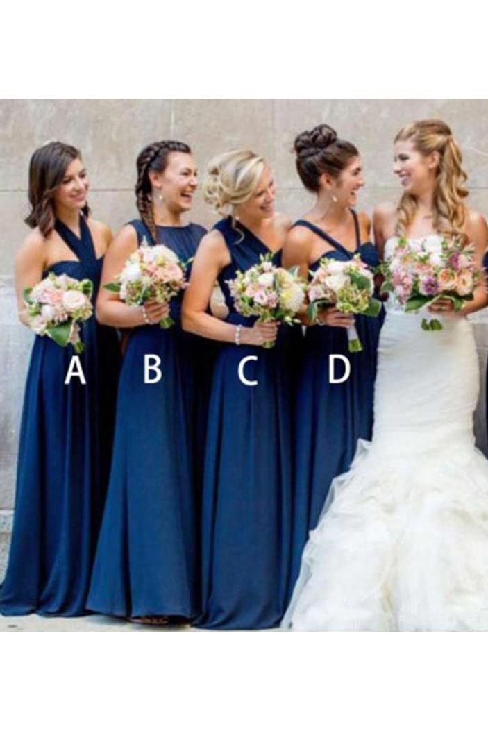 A-Line Long Floor Length Bridesmaid Dresses 3010513