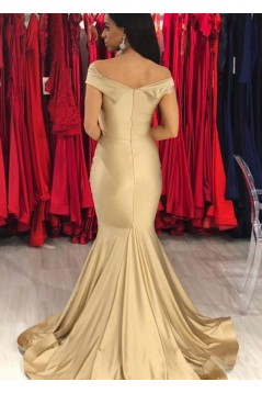 Mermaid Off-the-Shoulder Long Floor Length Bridesmaid Dresses 3010527