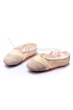 Women's Kids' Pink Canvas Dance Shoes Ballet/Latin/Yoga/Dance Sneakers Canvas Flat Heel D601041