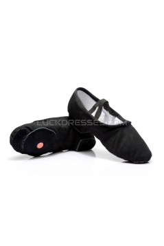 Women's Black Canvas Dance Shoes Ballet/Latin/Yoga/Dance Sneakers Canvas Flat Heel D604006