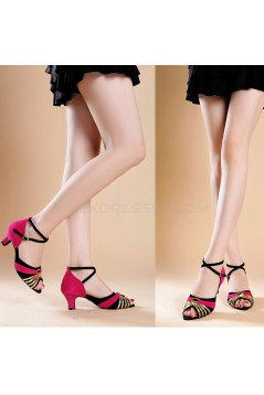 Women's Women's Piscine Mouth Shoes Open Toe Modern Ballroom/Latin Dance Shoes D801005