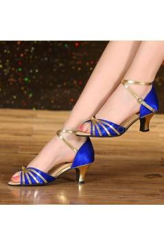 Women's Blue Gold  Heels Pumps Fashion Latin/Salsa/Ballroom Dance Shoes D801009