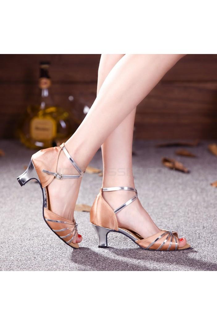 Women's Nude Silver NHeels Pumps Fashion Latin/Salsa/Ballroom Dance Shoes D801013