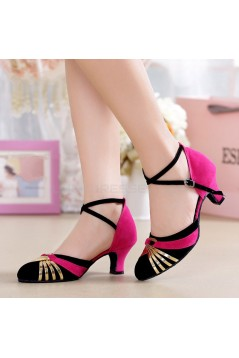 Women's Heels Pumps Modern With Buckle Latin/Ballroom/Salsa Dance Shoes Rose Red Black Gold D801019