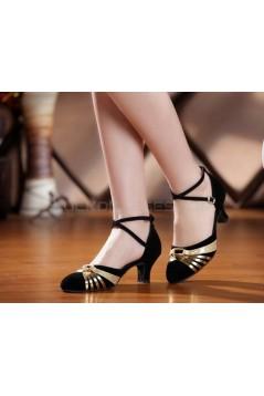 Women's Heels Pumps Modern With Buckle Latin/Ballroom/Salsa Dance Shoes Black Gold D801020