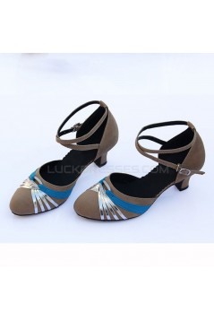 Women's Heels Pumps Modern With Buckle Latin/Ballroom/Salsa Blue Nude Silver Dance Shoes D801023