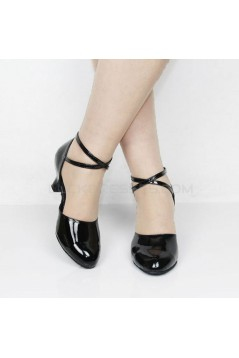Women's Fashion Heels With Ankle Strap Latin Modern Dance Shoes Black Wedding Party Shoes D801049