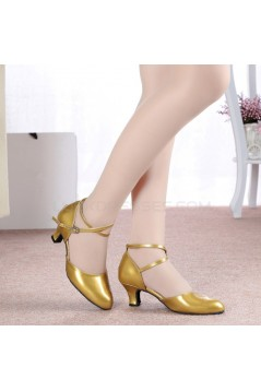 Women's Fashion Heels With Ankle Strap Latin Modern Dance Shoes Yellow Wedding Party Shoes D801050