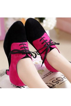 Women's Heels Lace-up Latin Modern Dance Shoes Rose Red Black Wedding Party Shoes D801051
