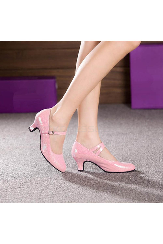 Women's Pink Sparkling Glitter Heels