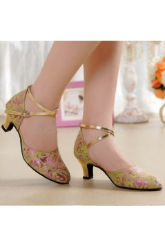 Women's Soft Top Layer Cow Leather Lace Customized Heels Latin/Salsa/Ballroom/Outdoor Dance Shoes Wedding Party Shoes D801070