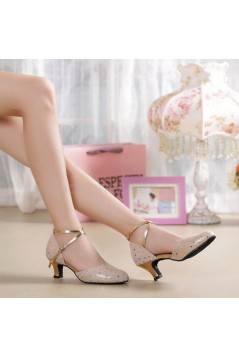 Women's Fashion Soft Top Layer Cow Leather Customized Heels Latin/Salsa/Ballroom/Outdoor Dance Shoes Wedding Shoes D801072