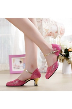 Women's Fashion Soft Top Layer Cow Leather Customized Heels Latin/Salsa/Ballroom/Outdoor Dance Shoes Wedding Shoes D801073