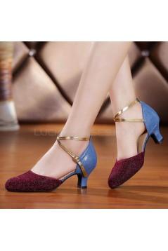Women's Sparkling Glitter Heels With Buckle Latin/Salsa/Ballroom/Outdoor Dance Shoes D801075