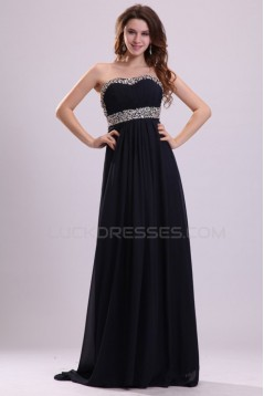Empire Sweetheart Long Beaded Chiffon Prom Evening Formal Party Dresses/Maternity Evening Dresses ED010011
