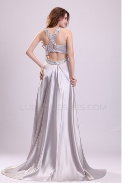 A-Line Beaded Long Prom Evening Formal Party Dresses ED010018
