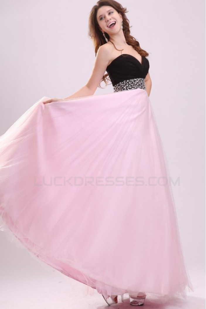 A-Line Sweetheart Long Beaded Chiffon Prom Evening Formal Party Dresses ED010020