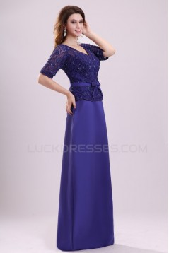 Half Sleeve Long Lace Prom Evening Formal Party Dresses/Mother Of The Bride Dresses ED010025