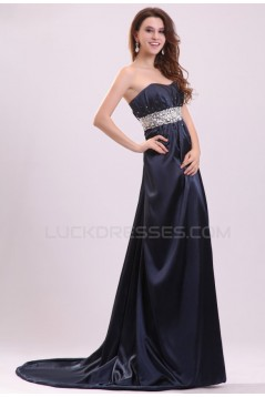 Empire Strapless Long Beaded Prom Evening Formal Party Dresses ED010027