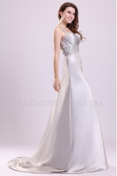 A-Line One-Shoulder Long Beaded Prom Evening Formal Party Dresses ED010028