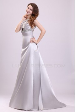 A-Line Beaded Long Prom Evening Formal Party Dresses ED010029