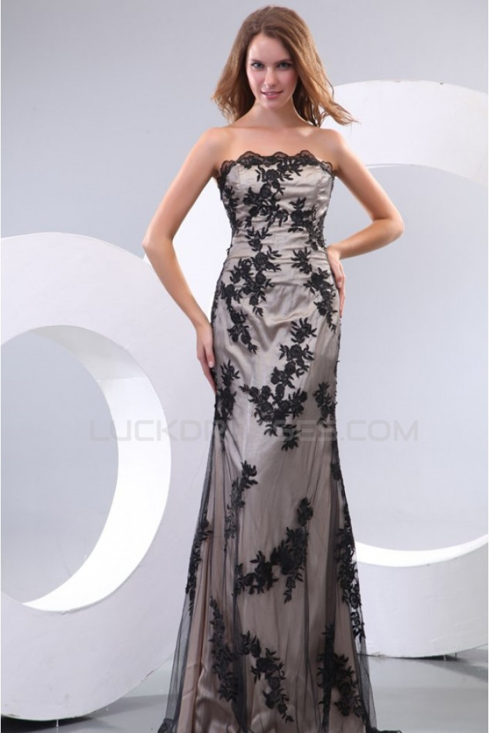 Sheath Strapless Long Prom Evening Formal Party Dresses ED010032