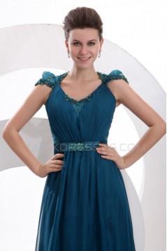 Sheath/Column Long Blue Prom Evening Formal Party Dresses ED010039