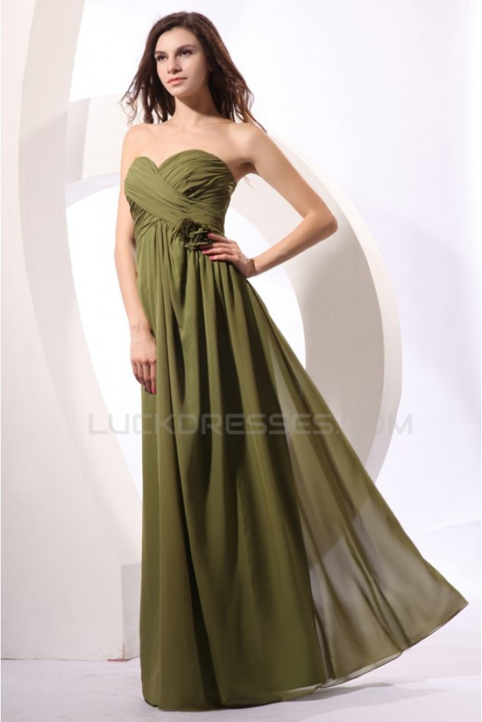 A-Line Sweetheart Long Chiffon Prom Evening Formal Party Dresses ED010042
