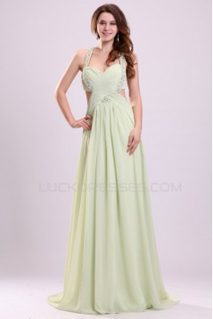 A-Line Beaded Long Chiffon Prom Evening Formal Party Dresses ED010044