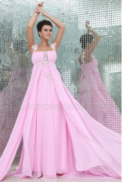 Long Pink Chiffon Prom Evening Formal Party Dresses/Maternity Evening Dresses ED010057