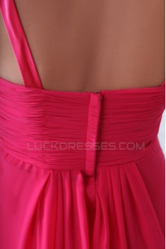 A-Line Long Pink Chiffon Prom Evening Formal Party Dresses ED010060