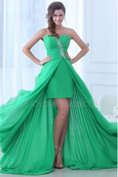 High Low Sweetheart Chiffon Prom Evening Formal Party Dresses ED010063