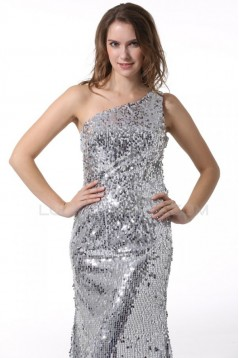 Trumpet/Mermaid One-Shoulder Sequin Long Prom Evening Formal Party Dresses ED010073