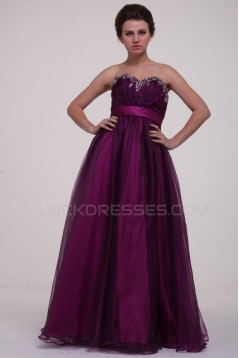 Ball Gown Sweetheart Beaded Long Prom Evening Formal Party Dresses/Maternity Evening Dresses ED010074